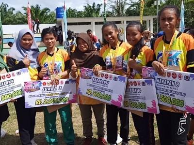 Hermin Aris, Afriana, Tika dan Elsiana Pemenang Trail Run Lints Patok Batas Negara 2019